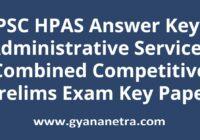 HPPSC HPAS Answer Key Paper PDF