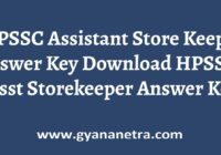 HPSSC Assistant Store Keeper Answer Key