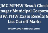 JMC MPHW Result Merit List