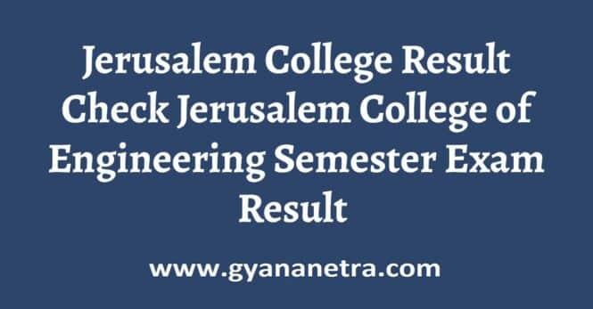 Jerusalem College Result