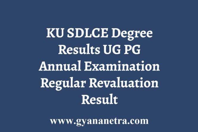 KU SDLCE Degree Results