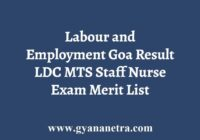 Labour and Employment Goa Result