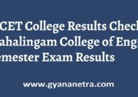 MCET College Results
