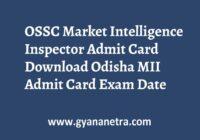 OSSC Market Intelligence Inspector Admit Card