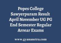 Popes College Sawyerpuram Result
