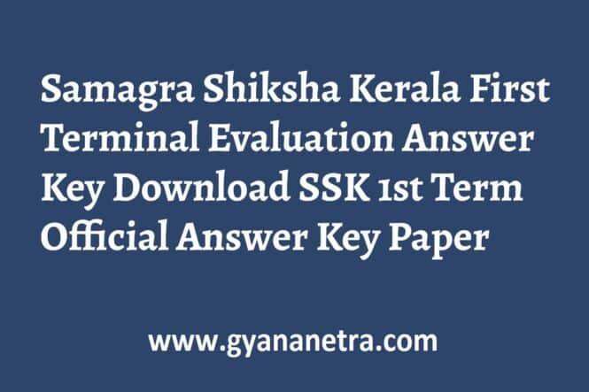 Samagra Shiksha Kerala First Terminal Evaluation Answer Key