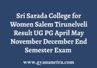 Sri Sarada College for Women Result