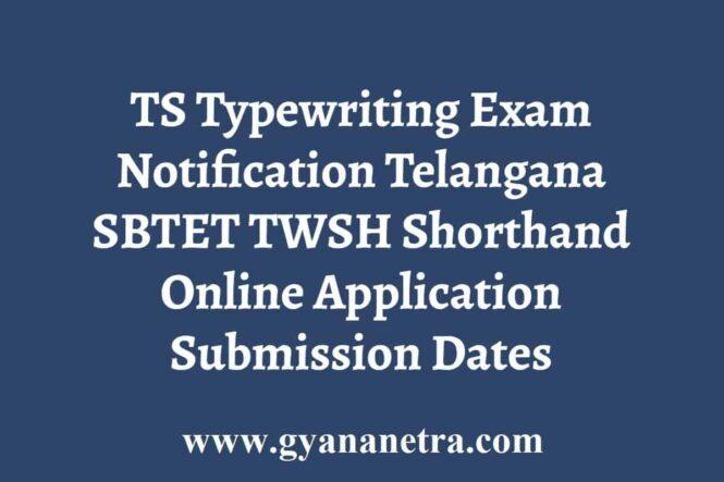 TS Typewriting Exam Notification Application