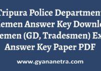 Tripura Police Department Riflemen Answer Key