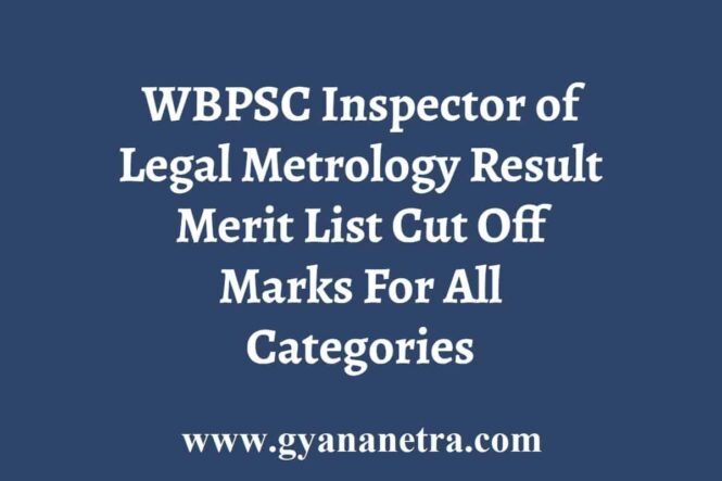 WBPSC Inspector of Legal Metrology Result