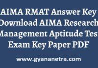AIMA RMAT Answer Key Paper PDF