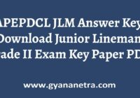 APEPDCL JLM Answer Key Paper PDF
