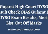 Gujarat High Court DYSO Result Merit List