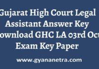 Gujarat High Court Legal Assistant Answer Key