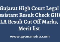 Gujarat High Court Legal Assistant Result Merit List