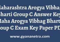 Maharashtra Arogya Vibhag Bharti Group C Answer Key