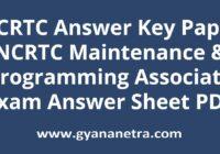 NCRTC Answer Key Paper PDF