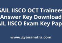 SAIL IISCO OCT Trainees Exam Answer Key