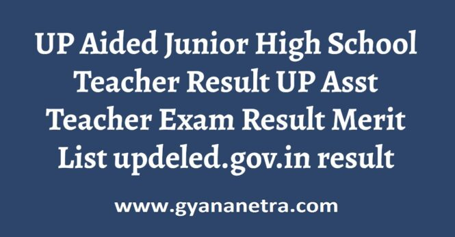 UP Aided Junior High School Teacher Result